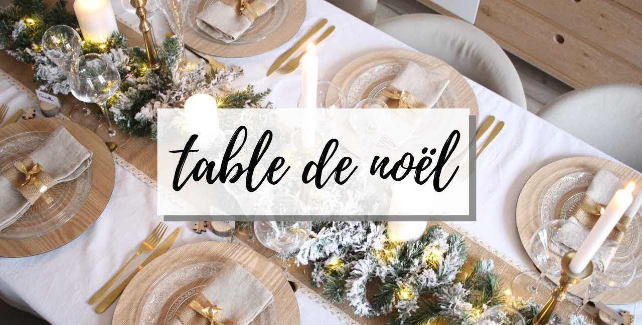 décoration de table Noel
